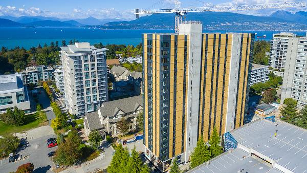TallWood House at Brock Commons, residenza per studenti della University of British Columbia che con i suoi 18 piani per 53 metri d'altezza è oggi il grattacielo in legno più alto del mondo