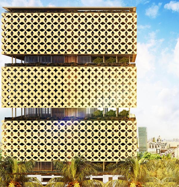 Abebe Court Tower, torre residenziale ideata da un giovane architetto camerunense, dovrebbe raggiungere gli 87 metri per 26 piani