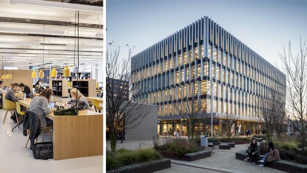 Il nuovo edificio universitario del Campus Woudestein di Rotterdam utilizza in modo estremamente efficace la luce naturale, la separazione acustica e il controllo delle temperature ambientali
