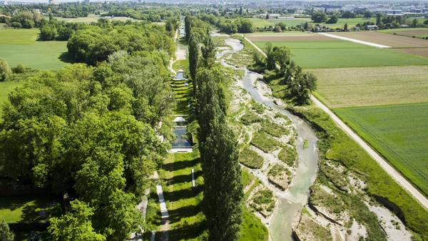 La rivitalizzazione del fiume Aire, nei pressi di Ginevra