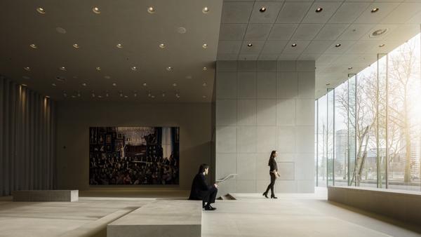 la nuova sede della corte suprema dei Paesi Bassi, realizzata all'Aia dagli architetti Kees Kaan, Vincent Panhuysen e Dikkie Scipio